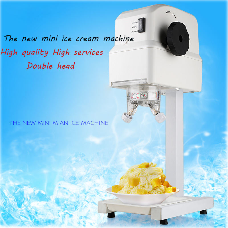 K-21 Mini electric ice sand machine commercial / home use  DIY fruit ice cream machine ice cream maker 110 / 220V  1pc 2016 new generation powerful 220v electric ice crusher summer home use milk tea shop drink small commercial ice sand machine zf
