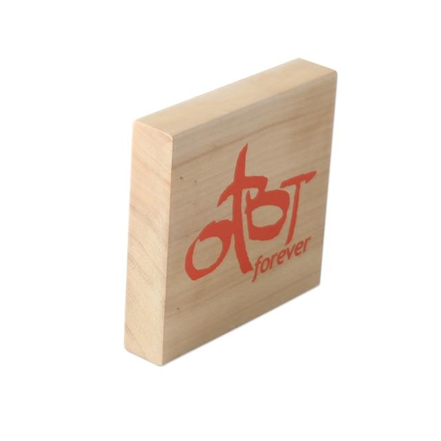 wooden logo display wooden brand block nameplate signage plaques pop