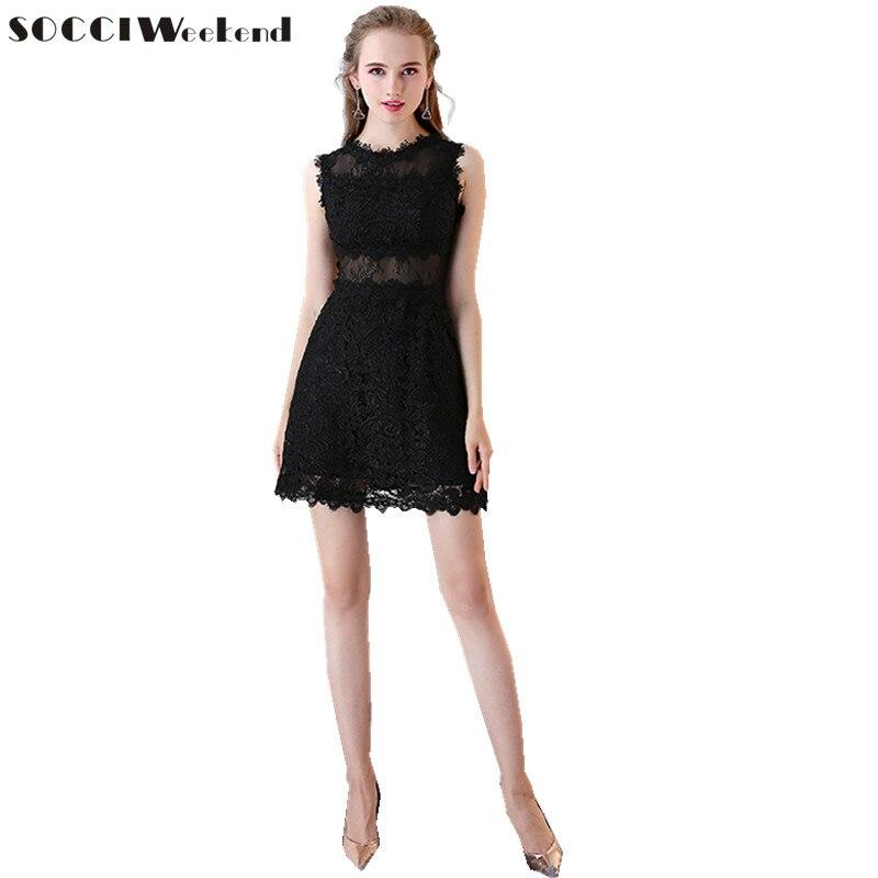 Socci Little Black Dresses Romantic Lace Evening Dresses Sexy Lace