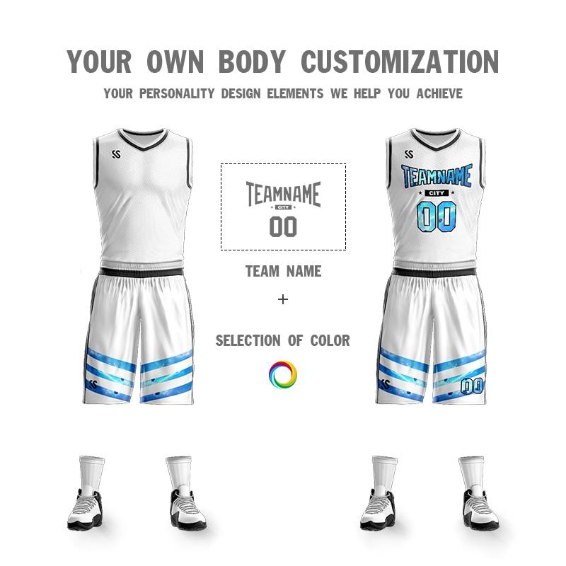 53438f5892ea 2019 Men Youth Cheap college Basketball Jerseys kids breathable custom  Basketball Uniforms shirts shorts Set white. sku  32973055914