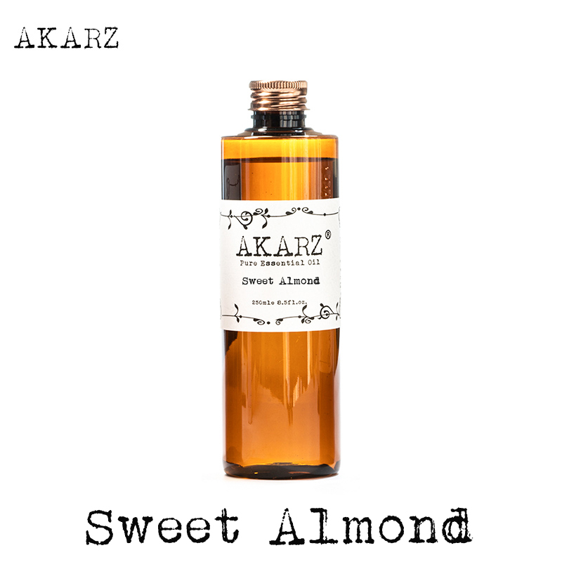 AKARZ Famous Brand Sweet Almond Oil Natural Aromatherapy Highcapacity Skin Body Care Massage Spa Sweet Almond Essential Oil