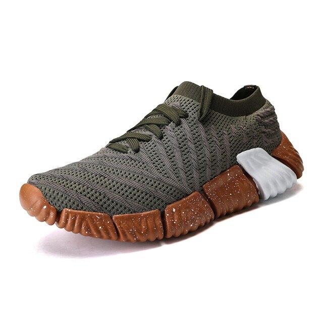 Модные Обувь с дышащей сеткой кроссовки для Для мужчин осень Для мужчин открытый кроссовки Сверхлегкие спортивная обувь Для мужчин размеры 39–44