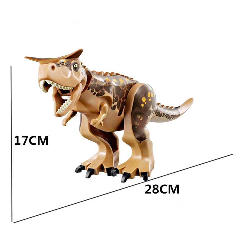 Jurassic World Dinosaur Carnotaurus Indoraptor Animal Model Building Blocks Bricks Figures Toys For Children Gifts