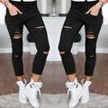 FANALA Mujeres Delgadas Legging Señora Pantalones Lápiz de Cintura Alta Legging Del Otoño Del Resorte Solid Soft Leggings Agujero 2017 Warm 3 Colores