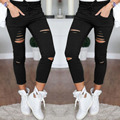 FANALA Women Slim Legging Lady Spring Autumn Solid Pants High Waist Pencil Legging Soft Hole Leggings 2017 Warm 3 Colors