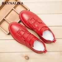 Nowego Mężczyzna Mikrofibry Moda Lace Up Rundy Toe Czerwone Przypadkowi Buty Mężczyźni Biznes Praca Biurowa Sneakers Buty Rozmiar 39-44 LJG-A0023