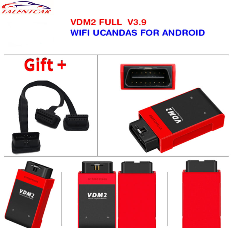 2017 New WIFI Automotive Scanner UCANDAS VDM2 VDM II Full Systems For Android Ph