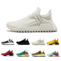 2018 Human Race Pharrell Williams Hu Trail Cream Core Black Nerd Equality Holi Nobel Ink Trainers Mens Women Sports Sneakers