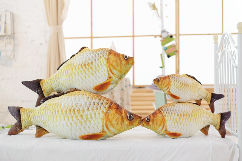 Hot sale new creative 3d printed animal fish pillow fish for Fish shaped pillow