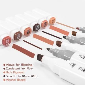 Image 4 - TOUCHFIVE ผิวชุดปากกา MARKER 24/30/36 สี Professional DUAL TIP แอลกอฮอล์ Sketch Markers อุปกรณ์ศิลปะ 3 ของขวัญ
