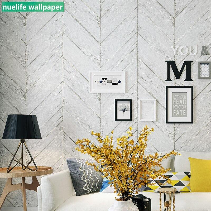 Gray Herringbone Wood Pattern Wallpaper Bedroom Study Living Room Dining Room TV Background Wall Non-woven Wallpaper