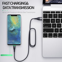 cable samsung galaxy ROCK 3A LED USB Type C Cable for xiaomi Samsung USB-C Mobile Phone Fast Charging Type-C Cable for Oneplus Galaxy S9 S8 Note 9 8 (5)