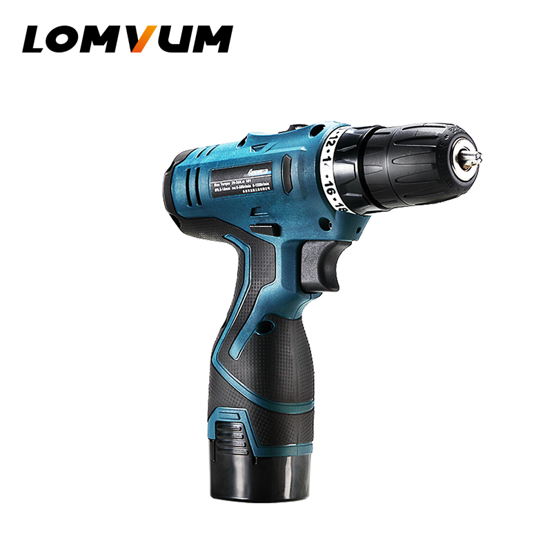 LOMVUM New Arrivals Electric Drill WaterProof Rechargeable Electric Screwdriver Multifunction Power Tools Mini Cordless Drill PJ
