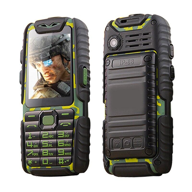 GuoPhone A6 Russian Keyboard 9800mAh Dual Sim Card Shockproof Dustproof FM flashlight power bank rugged mobile