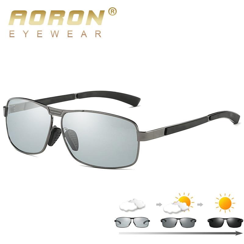 fab48e79b7 Gafas de sol polarizadas AORON nuevas gafas de sol de descoloración para  hombre gafas de sol fotocromáticas camaleón HD gafas de conducción de  aleación para ...
