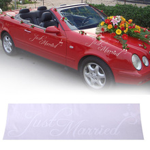 Beautiful Car Sticker Decal Paper Personalised Decor Decoration Wedding Supplies(China)