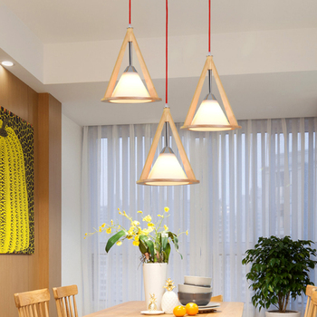 Chinese style Rural wooden led  pendant lights sitting room American restaurant droplight dining room wood hanging warm lamps