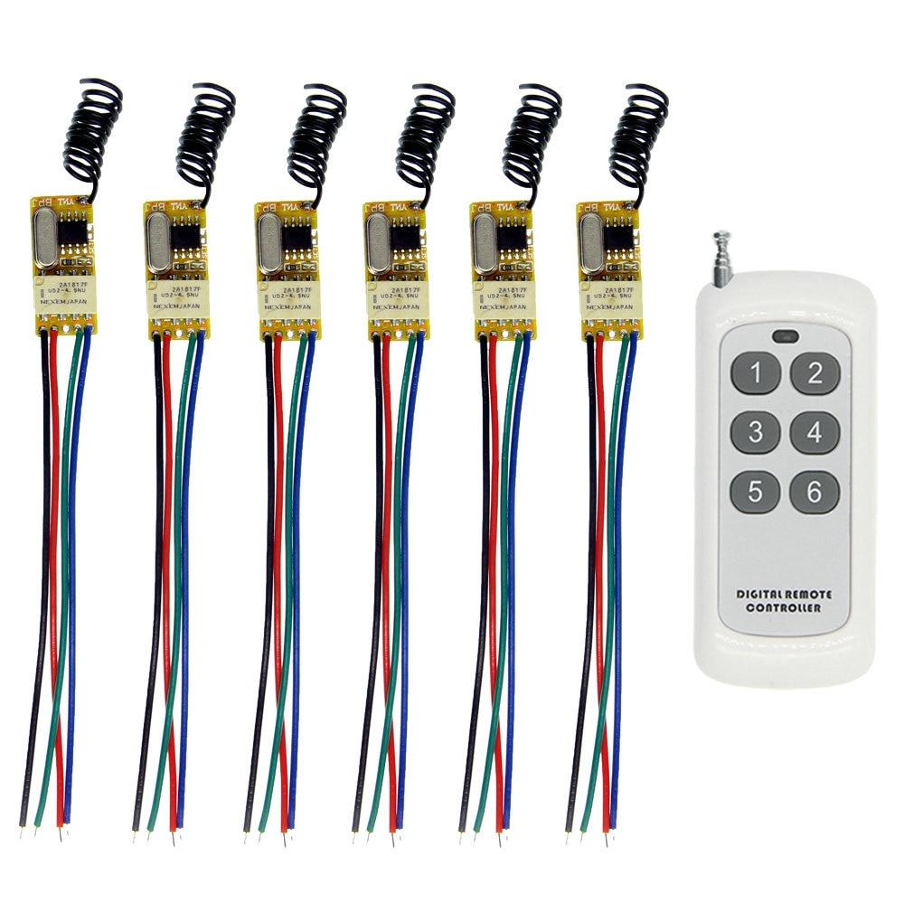 500m DC 3.6V 3.7V 4.2V 4.5V 5V 6V 7.4V 9V 12V Mini Relay Switch Contact NO COM NC 6CH Remote Wireless Switch500m DC 3.6V 3.7V 4.2V 4.5V 5V 6V 7.4V 9V 12V Mini Relay Switch Contact NO COM NC 6CH Remote Wireless Switch