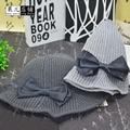 2017 versão Coreana do outono e inverno chapéu novo arco tampão do laço folha de lótus tigela moda agulha senhora quente da moda tecido cap