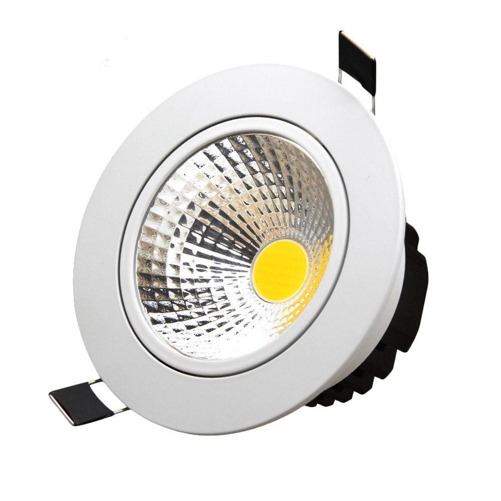 スーパーブライト調光 Led ダウンライト COB スポットライト 5 ワット 7 ワット 10 ワット 12 ワット凹型 led スポットライト電球室内照明