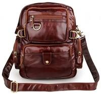 Cowboy Vintage Leather Men S Espresso Travel Backpack Bookbag Schoolbag Hiking Messenger Bag FREE SHIP 7042Q