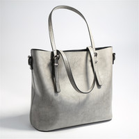Hot Sale Large Capacity Women Casual Totes Split Leather Handbag Fashion Design Lady Shoulder Bag Female Bag Bolsa Sac