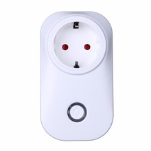 купить New Smart Power Socket Plug, Wifi Wireless Remote Control Power Outlet Switch Timer EU Plug Socket for home use по цене 1250 рублей