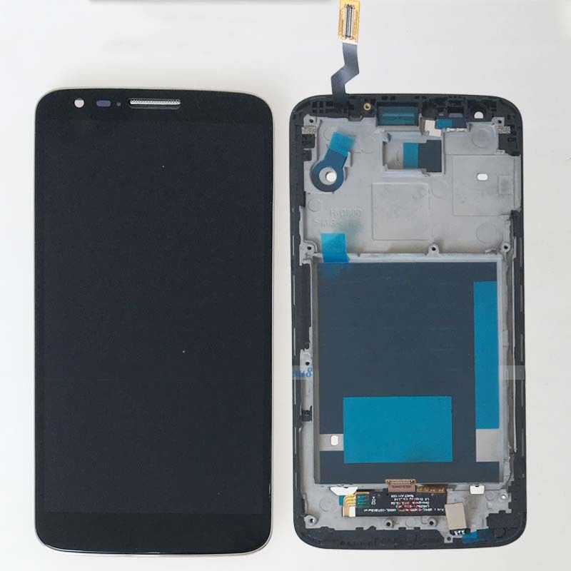 For Black LG G2 D800 D801 D803 Touch Screen Digitizer LCD Display Assembly + Frame