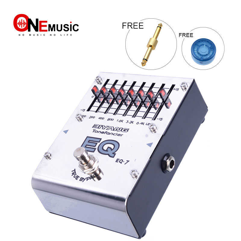 Biyang ToneFancier Series EQ 7 7 Bands Graphic Equalizer EQ Electric guitar Pedal True Bypass With