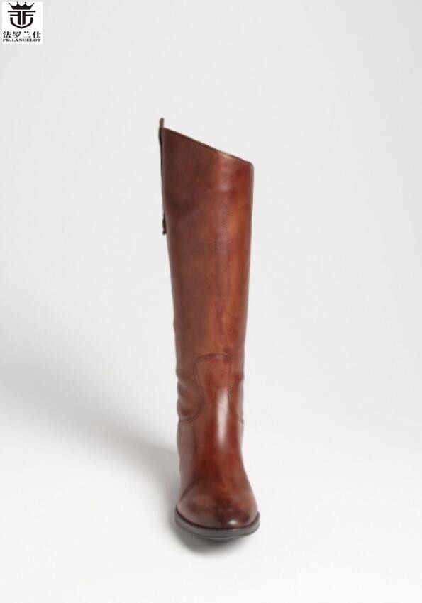 967c723dc580 LANCELOT горячая Распродажа брендовые Ботинки Челси из натуральной кожи  мужские зимние высокие сапоги