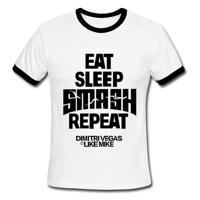 New Cheap Mens T Shirts Music DJ Eat Sleep Smash Repeat Camisetas ...