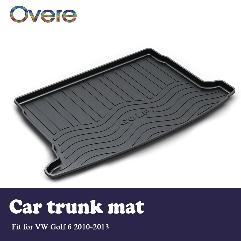 Overe 1Set Car rear trunk mat For VW Golf 6 Mk6 2010 2011 2012 2013 Styling Boot Liner Tray Waterproof Anti-slip mat Accessories цена