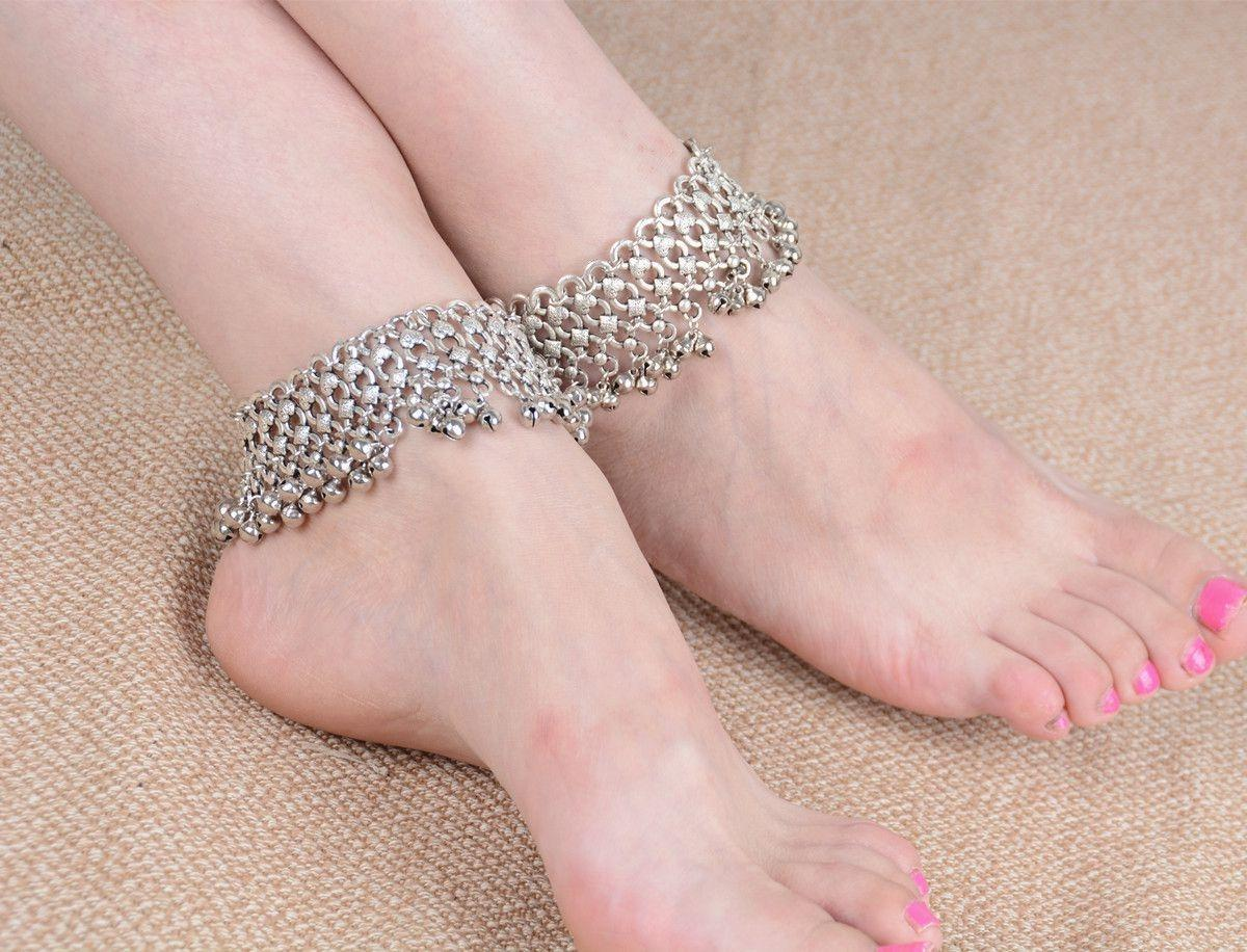 XIUFEN XY Fancy Fashion Vintage Multilayer Slave Chain Tassel Beads Bell Anklet Foot Chain Barefoot Beach Sandle Foot Jewelry