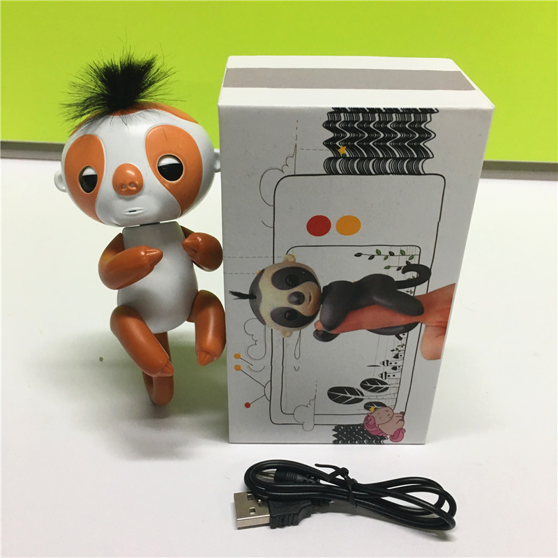 Finger monkey recording finger Sloth with 2 smart reactions Finger Toys Electronic Smart Touch Finger monkey Christmas Gift Kid