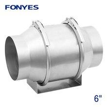 6 inch metal mixed flow inline duct fan pipe exhaust fan ceiling ventilation fan turbo fan extractor ventilator 220V 150mm