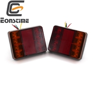 2pcs Waterproof 8 LED Tail Light Rear Lamps Pair Boat Trailer DC 12V Rear Parts For
