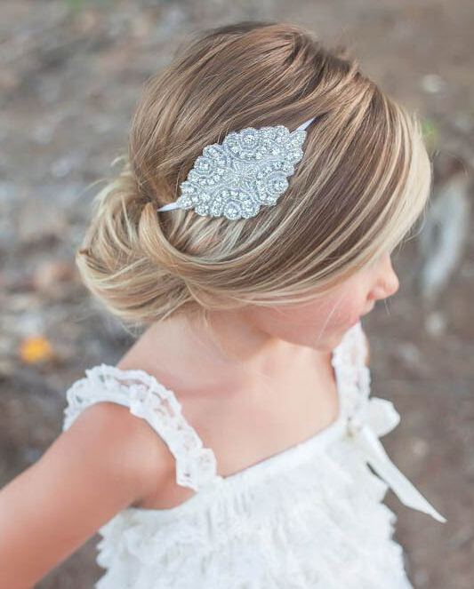 Wedding Hairstyles Boys: Girls Kids Wedding Bohemia Crystal Rhinestone Beads