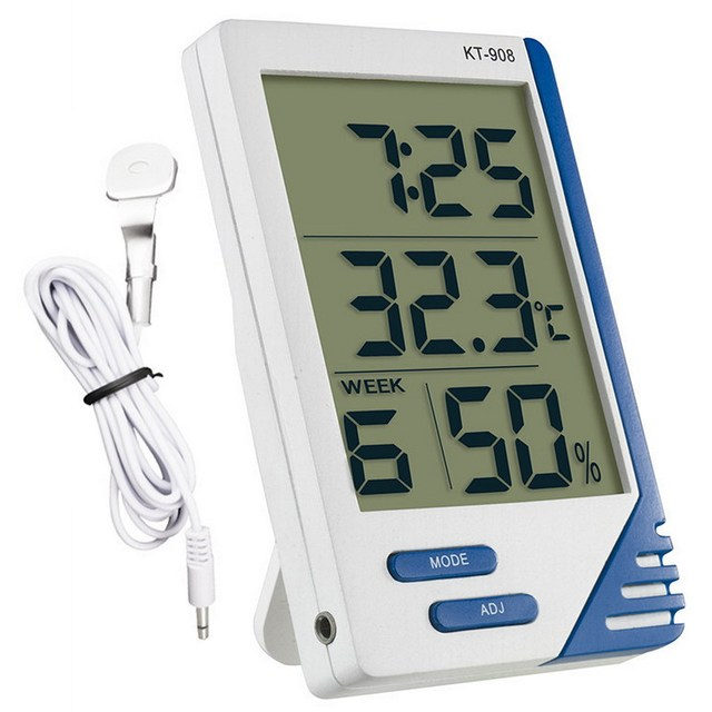 High Accurate Digital LCD Indoor/ Outdoor Thermometer Hygrometer ...