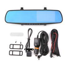 4.3 Inch Car DVR Camera Dash Cam FHD 1080P Dual Lens Car Auto DVR Mirror Recorder Car Rearview Mirror G-sensor DVRs все цены