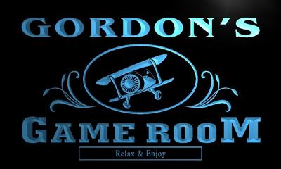 x0171-tm Gordons Tavern Game Room Custom Personalized Name Neon Sign Wholesale Dropshipping On/Off Switch 7 Colors DHL