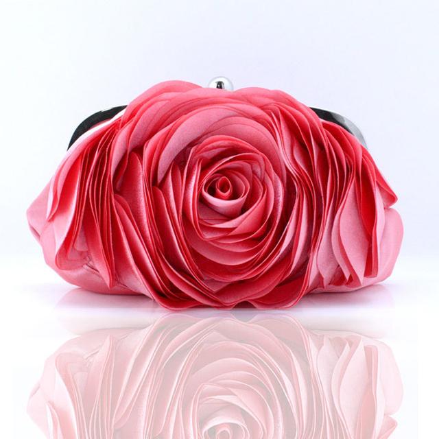 Fashion Flower Clutch Bag Women Wedding Handbag Bridal Clutch Purse Evening Dress Clutches Party Wallet Shoulder Chain Bag