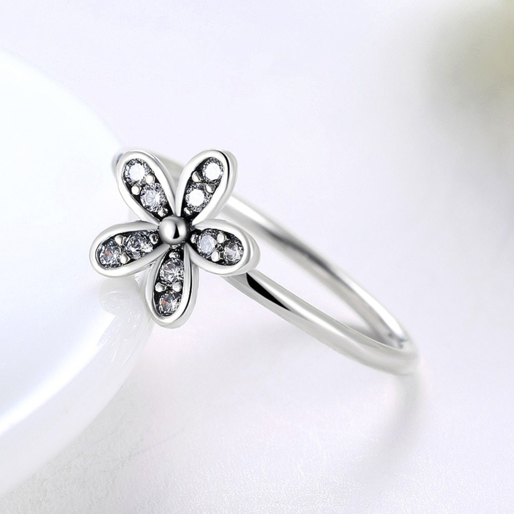 Gagafeel new arrival 925 sterling silver daisy flower ring with gagafeel new arrival 925 sterling silver daisy flower ring with clear cz crystal original brand rings fine jewelry us size 678 in engagement rings from izmirmasajfo