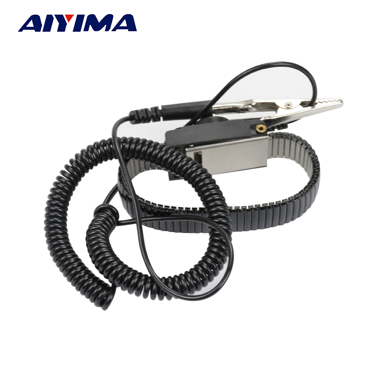 Anti Static ESD Adjustable Wrist Strap Discharge Band Ground Metal Bracelet adjustable anti static bracelet electrostatic esd discharge cable reusable wrist band strap hand with grounding wire