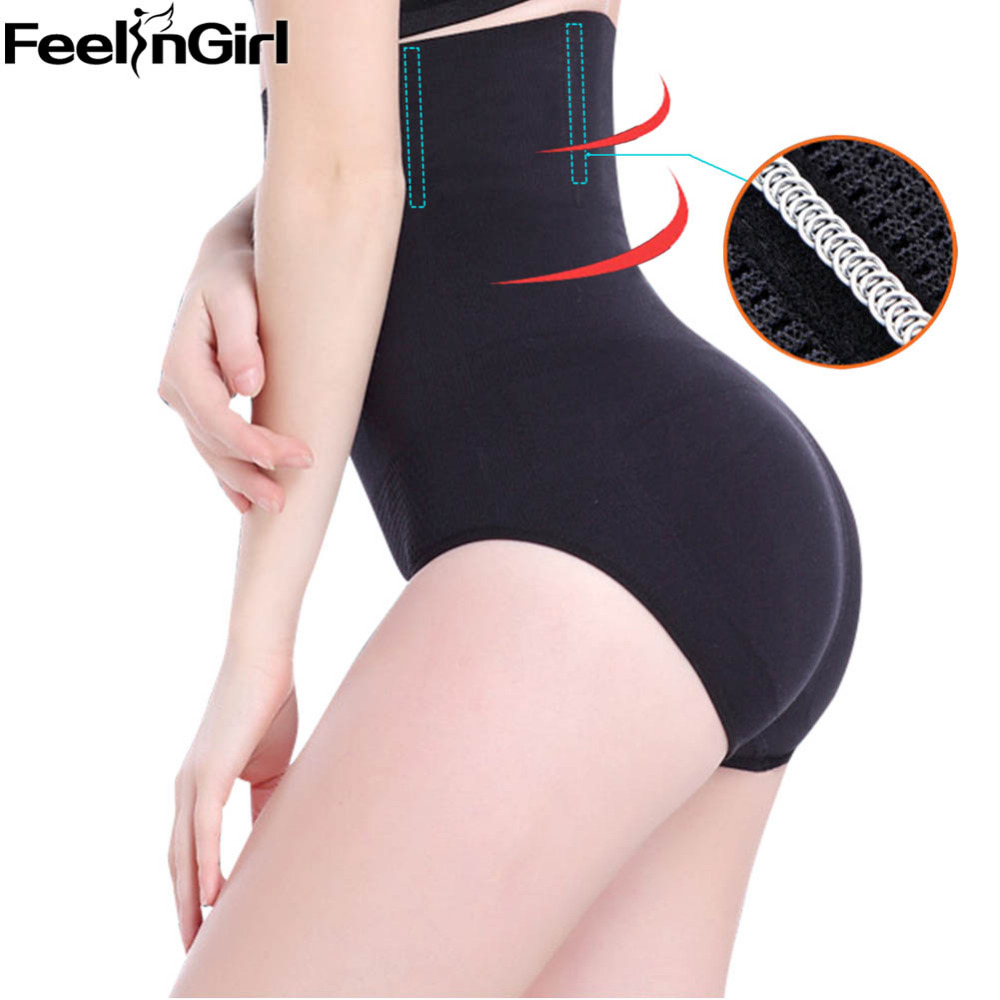 0c06e0ed09 FeelinGirl High Waist Butt Lifter Shaper Women Booty lifter with Tummy  Control Body Shapers Steel Butt Enhancer Waist Trainer -B