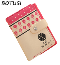 BOTUSI Short Female Clutch Wallet Ladies Purse Design Money Bag Dollar Price Women EXO Star Gifts for Young People We Are One