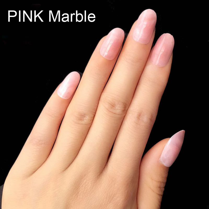 2016 Hot Pretty Fake Nails Unique Marble Pattern UV Art Nails Tips ...