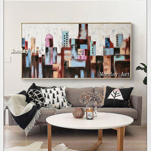 Handmade New York Urban Street oil painting Hand Painted Picture Canvas Oil Painting Wall Art Home decor for Living Room Bedroom cir new york esagona wall street 24x27 7