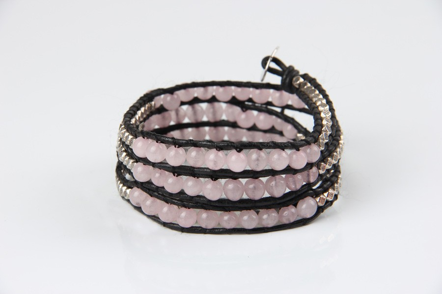 rose quartz stone bracelet (4)