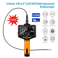 EYOYO NTS300 Dia 3.9mm Inspection Camera 4.3 LCD Monitor 720P Endoscope Borescope Inspection 1M Tuble 6 Leds 360 Degree Flip