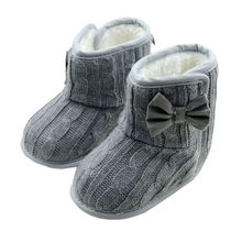 Newest Cute infatil baby girl Warm Winter Solid Newborn Baby Kids First Walkes hard sole Boys baby shoes boots 0-18 M(China)